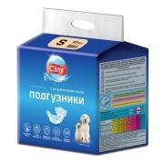 Подгузники Cliny для собак и кошек размер S (3-6 кг, 15-25см), 10шт...