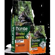 Monge Dog BWild GRAIN FREE беззерновой корм из мяса утки с картофелем для щенков...