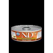 Farmina N&D Cat Pumpkin для кошек, тыква и оленина 80г