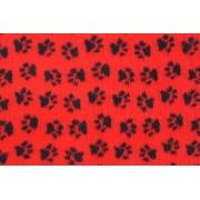Коврик ProFleece меховой 1х1,6 м красный/черный