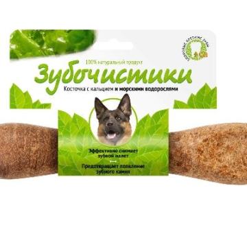 Лакомство Зубочистики для собак крупных пород косточка со вкусом морских водорослей (265г)