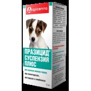 Apicenna: Празицид плюс 6мл суспензия антигельминтик для щенков мелких пород, 1м...