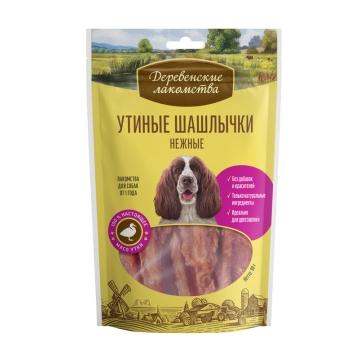 Лакомство Деревенские Лакомства шашлычки утиные нежные для собак, 90г