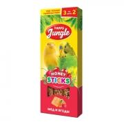 Лакомство Happy Jungle мед и ягоды для птиц 3 шт.