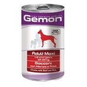 Gemon Dog Maxi консервы для собак крупных пород кусочки говядины с рисом 1250г...