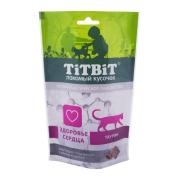 Лакомство TiTBiT Хрустящие подушечки для кошек с мясом индейки для здоровья серд...