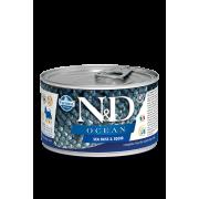 Farmina N&D Dog Ocean для собак, сибас и кальмар для мини-пород 140г...