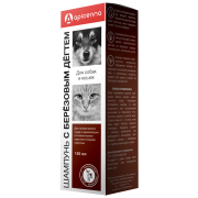 Apicenna: шампунь с березовым дёгтем для кошек и собак, 150мл...