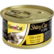 Консервы GimCat ShinyCat для кошек из тунца с сыром 70 г...