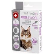 Капли Ms. Kiss Ecolife Skin & Wool для здоровья кожи и шерсти котят и кошек...
