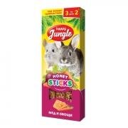 Лакомство Happy Jungle мед и овощи для кроликов, шиншилл, морских свинок...