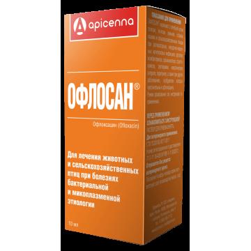 Apicenna: Офлосан антибактериальный препарат для кошек и собак, (10мл)