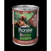 Monge Dog BWild GRAIN FREE беззерновые консервы из ягненка с тыквой и кабачками ...