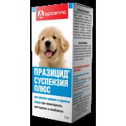 Apicenna: Празицид плюс 9мл суспензия антигельм. для щенков средних и крупных по...