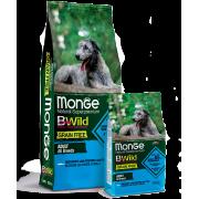 Monge Dog BWild GRAIN FREE беззерновой корм из анчоуса c картофелем и горохом дл...