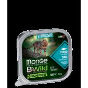 Консервы Monge Cat BWild GRAIN FREE беззерновые из тунца с овощами для стерилизо...