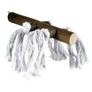 Жердочка Trixie деревянная с веревкой