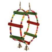 Игрушка для птиц Triol Кольцо-бусины с колокольчиками 25*7,5 см...