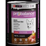 Консервы Probalance Gourmet diet Adult для взрослых собак с телятиной и кроликом...
