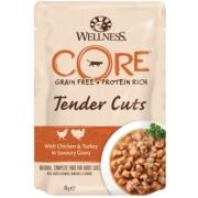 Влажный корм CORE TENDER CUTS для кошек курица с индейкой в виде нарезки в соусе...