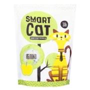 Силикагелевый наполнитель Smart Cat с ароматом яблока...