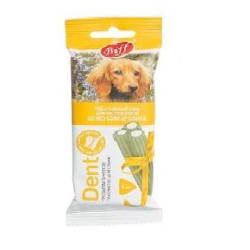 """Лакомство Biff снек """"Dent"""" для чистки зубов вкус кролика для собак средних пород (3 шт)"""