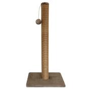Когтеточка Гамма Cтолбик №10 длинная с игрушкой однотонная, 360*360*760мм...