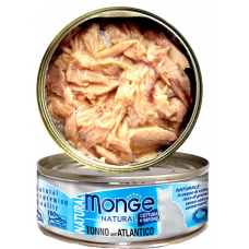 Monge Cat Natural консервы для кошек атлантический тунец 80г