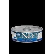 Farmina N&D Cat Ocean для кошек, лосось, треска и креветки 80г...