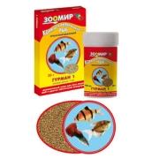 """Корм Зоомир """"Гурман-1"""" тонущие гранулы для рыб коробка 30гр (упаковка ..."""