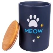 Бокс КерамикАрт керамический для хранения корма для кошек MEOW 1900 мл, черный...