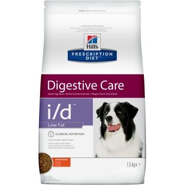 Сухой корм для собак Hill's Prescription Diet i/d Low Fat Digestive Care при расстройствах пищеварения с низким содержанием жира, с курицей