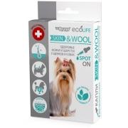 Капли Mr. Bruno Ecolife Skin & Wool для здоровья кожи и шерсти щенков и соба...