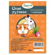 Сено для грызунов Лаурон луговое прессованное с овощами 500г...