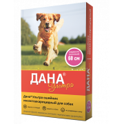 Apicenna: цветной ошейник Дана Ультра инсектоакарицидный для собак 60см, розовый...