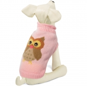 Свитер для собак Triol Сова, розовый