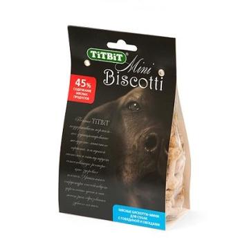 """Печенье TiTBiT """"Бискотти-мини"""" для собак с говядиной и овощами"""