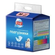 Подгузники Cliny для собак и кошек размер M (5-10 кг, 30-40см), 9шт...