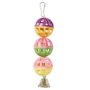 Игрушка для птиц Triol Три шарика с колокольчиком 15 см...