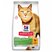 Hill's Science Plan Senior Vitality сухой корм для кошек старше 7 лет с курицей ...
