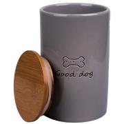 Бокс КерамикАрт керамический для хранения корма для собак GOOD DOG 850 мл, серый...