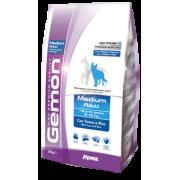 Gemon Dog Medium корм для взрослых собак средних пород тунец с рисом ...