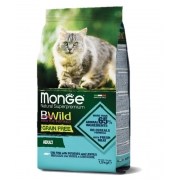 Сухой корм Monge Cat BWild GRAIN FREE беззерновой корм из трески, картофеля и че...