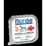 Консервы Monge Dog Monoprotein Fruits паштет из утки с малиной для собак 150гр...