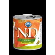 Farmina N&D Dog Pumpkin для собак с тыквой, кабан и яблоко 285г...
