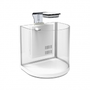 Аквариум Atman BGT-25 10Л дуговой белый+фильтр+свет 25,4*21*26см...