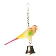 Игрушка для птиц Trixie Попугай с колокольчиком 9см...