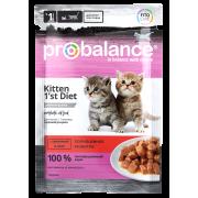 ProBalance 1'st Diet для котят с телятиной в желе, пауч 85 гр...