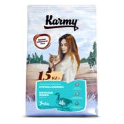 Сухой корм Karmy Hypoallergenic для кошек, склонных к пищевой аллергии с уткой...