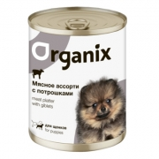 Консервы Organix Мясное ассорти с потрошками для щенков...